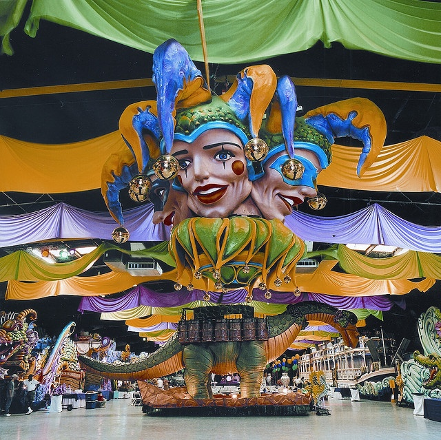 """Mardi Gras World is a tourist attraction in New Orleans #Louisiana. Guests tour the working warehouse where floats are made for Mardi Gras parades in New Orleans."""