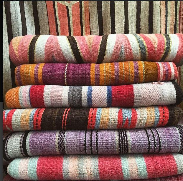 Navajo And Rio Grande Textiles In The Rug Room At Shiprock Santa Fe