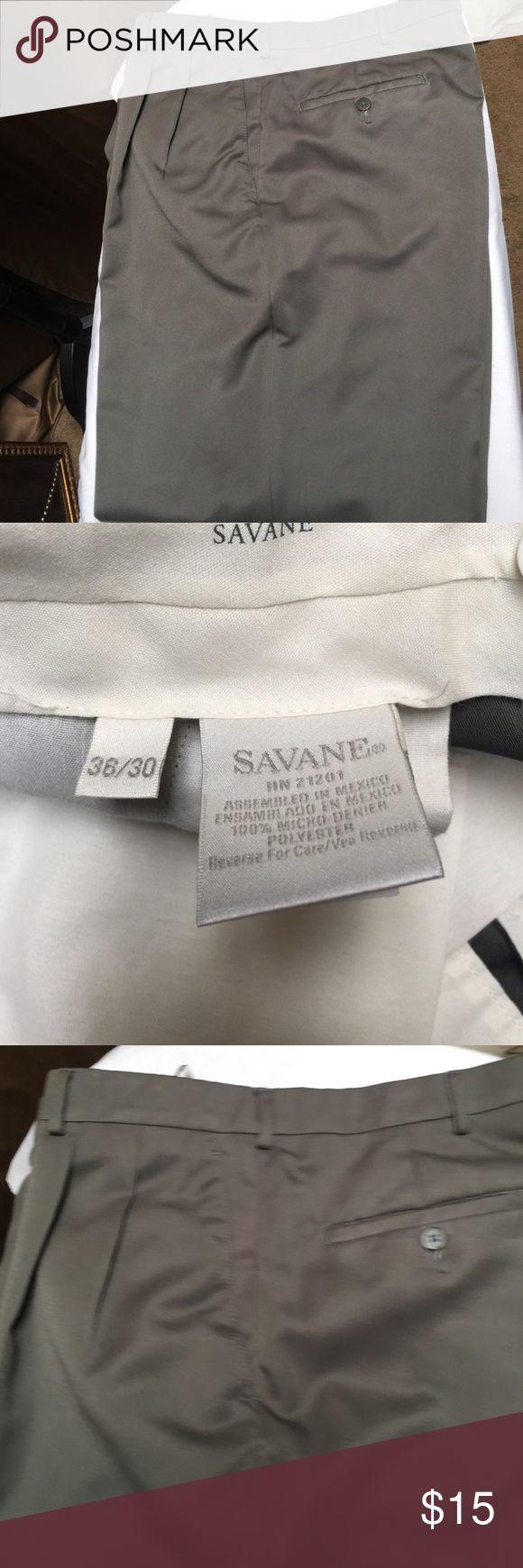 Savane men's pants. Savane Olive men's cuffed pants. Savane Pants Dress