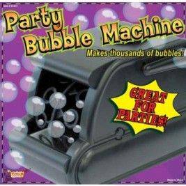 SMALL PARTY BUBBLE MACHINE W/AC ADAPTER