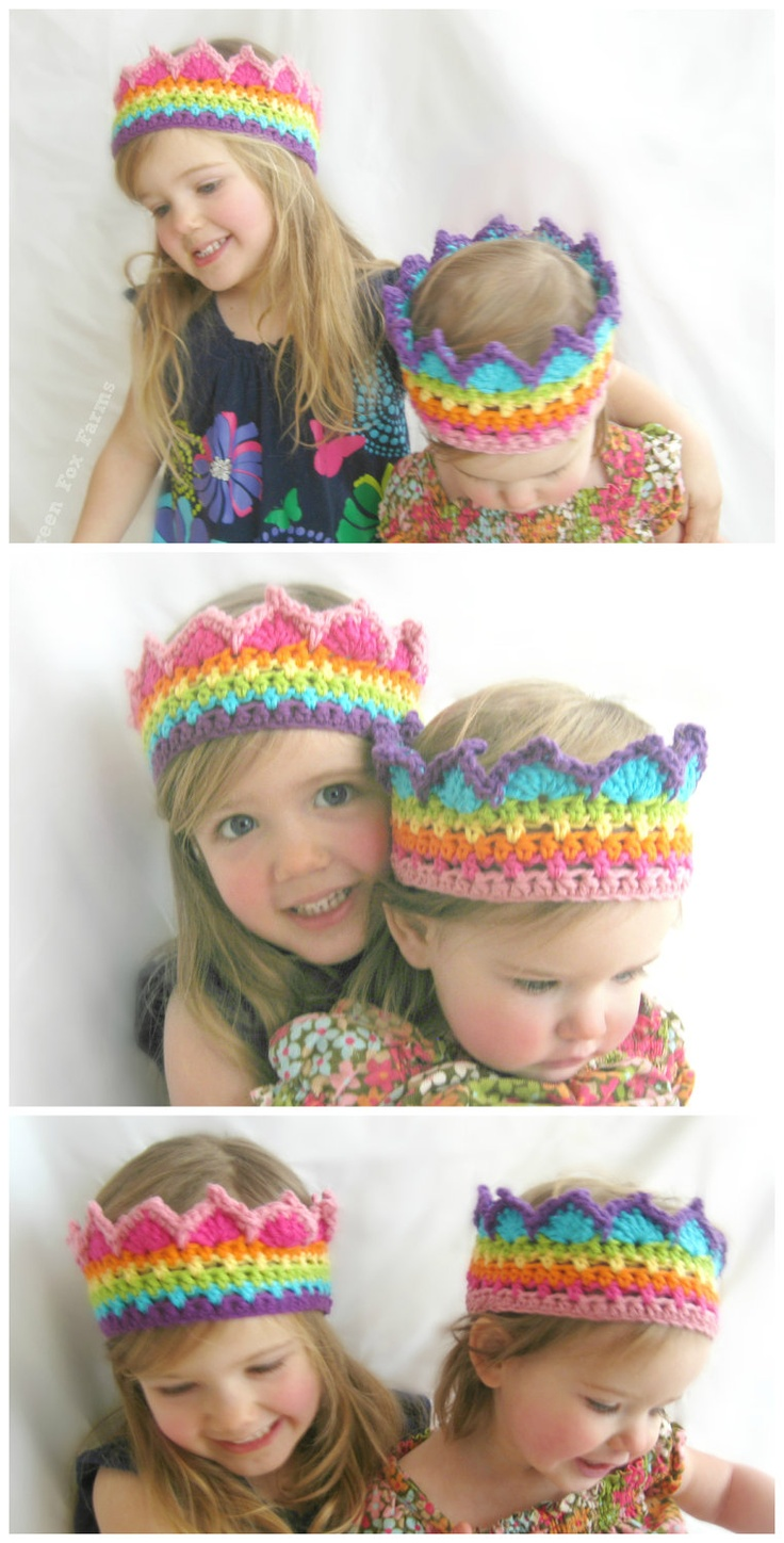 rainbow crowns for the girls