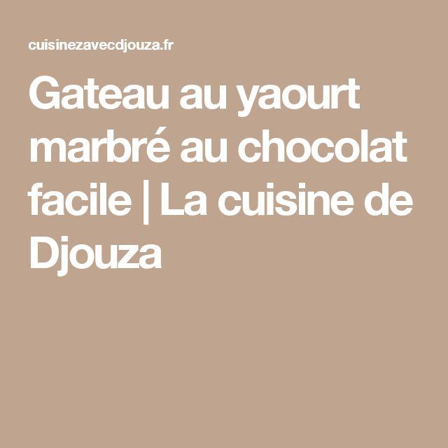 Gateau au yaourt marbré au chocolat facile | La cuisine de Djouza