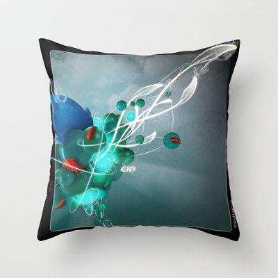 Energy Asker Throw Pillow by Original Asker - $20.00