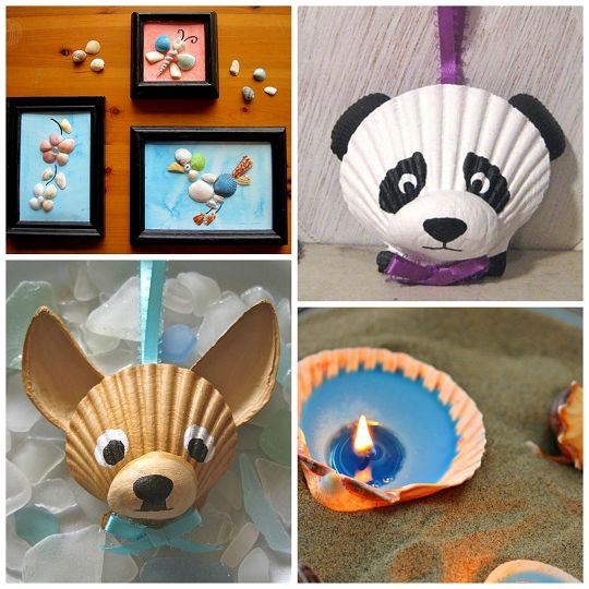 78 best images about painted shells on pinterest for Seashell ornaments craft