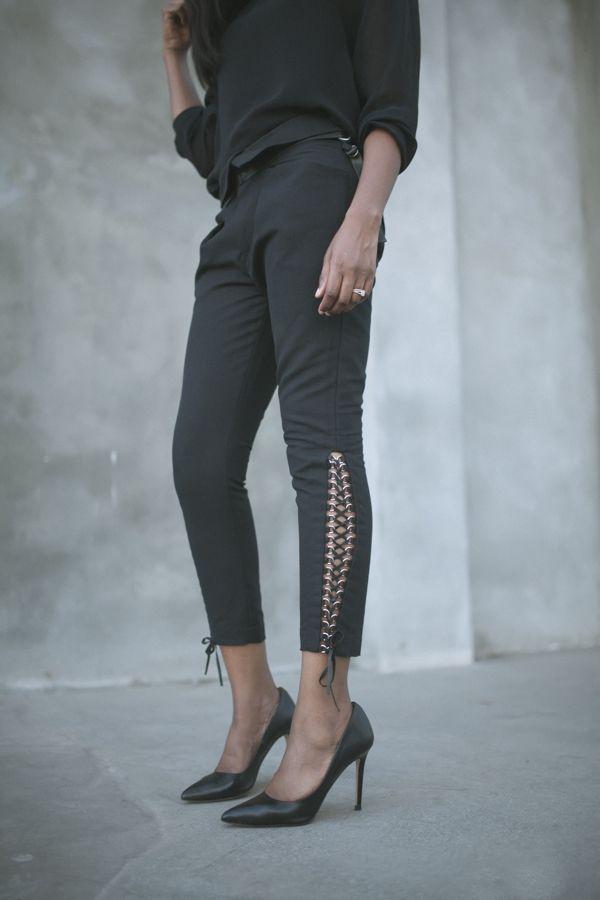 Blk Dnm top, Isabel Marant pants, Zara heels