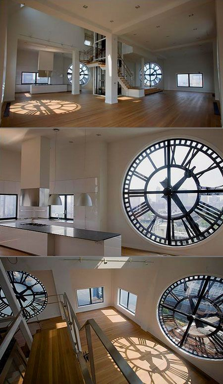 Brooklyn home built inside an actual clock tower. Amazing! See this place every day from the bridge.