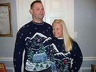 Couples Matching Christmas Tree Sweaters