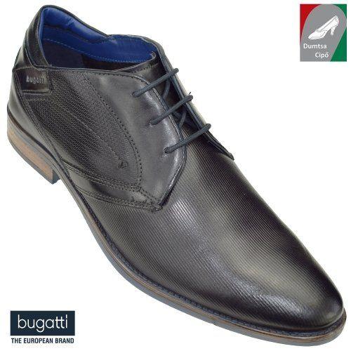 Bugatti férfi bőr cipő 311-16430-2500-1100 mélyszürke
