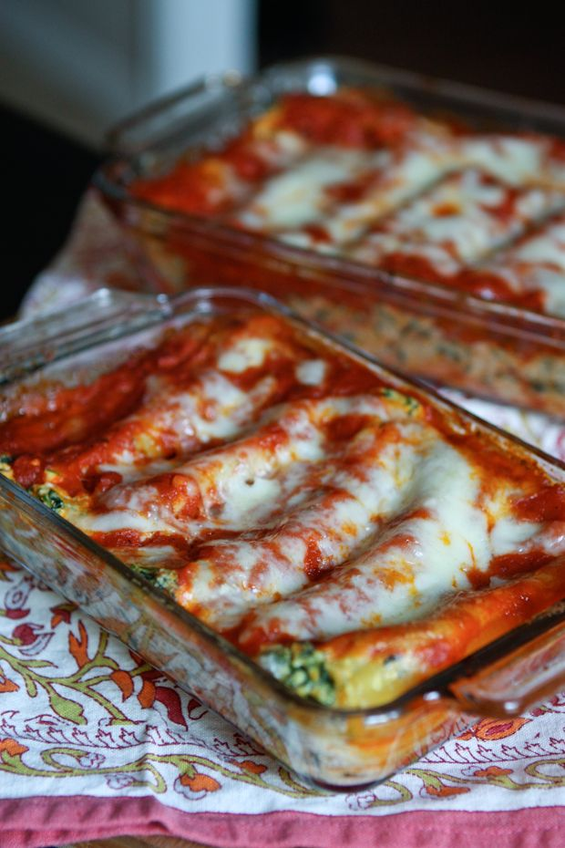 Butternut Squash and Spinach Manicotti | Aggie's Kitchen