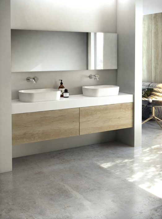 Muebles de baño personalizados, hechos a medida.  PLANTEAMIENTO 1. Mueble entre 2 paredes 2. Uso de 2 personas. 3. Composición según necesidades. SOLUCIÓN 1. Mueble a medida entre 2 paredes. 2. Espejo a medida en formas e iluminación. 3. Personalización del mueble y color.