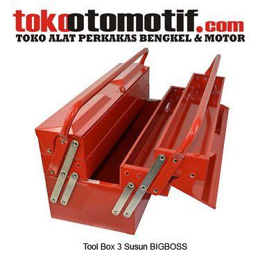 Tool Box 3 Susun BIGBOSS - wadah/kotak perkakas   Kode : 800023 Nama : Tool Box Merk : BIGBOSS Tipe : 3 Susun Berat Kirim : 5 kg  #toolbox #hargatoolbox #hargajualtoolbox #kotakperkakas #jualtoolbox #boxperkakas #toolboxsusuntiga