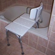 Anself Adjustable Shower Chair Seat Medical Bathroom Bath Tub Transfer Bench Stool post by: Main Street Mobile Billboards