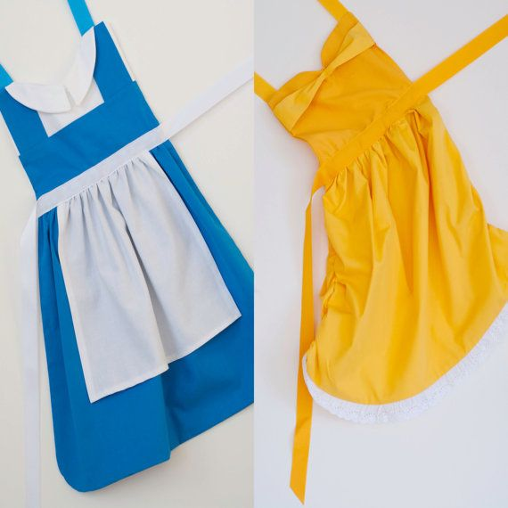 Beauty and the Beast princess Belle dress up apron set for toddlers and little girls on Etsy, $50.00