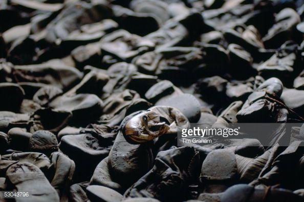 Majdanek Concentration Camp - a child's shoe lies among shoes... News Photo | Getty Images
