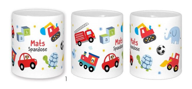 Dosen & Schachteln - Spardose fur Kinder personalisiert Spielzeug - ein Designerstück von LEVARDESIGN bei DaWanda