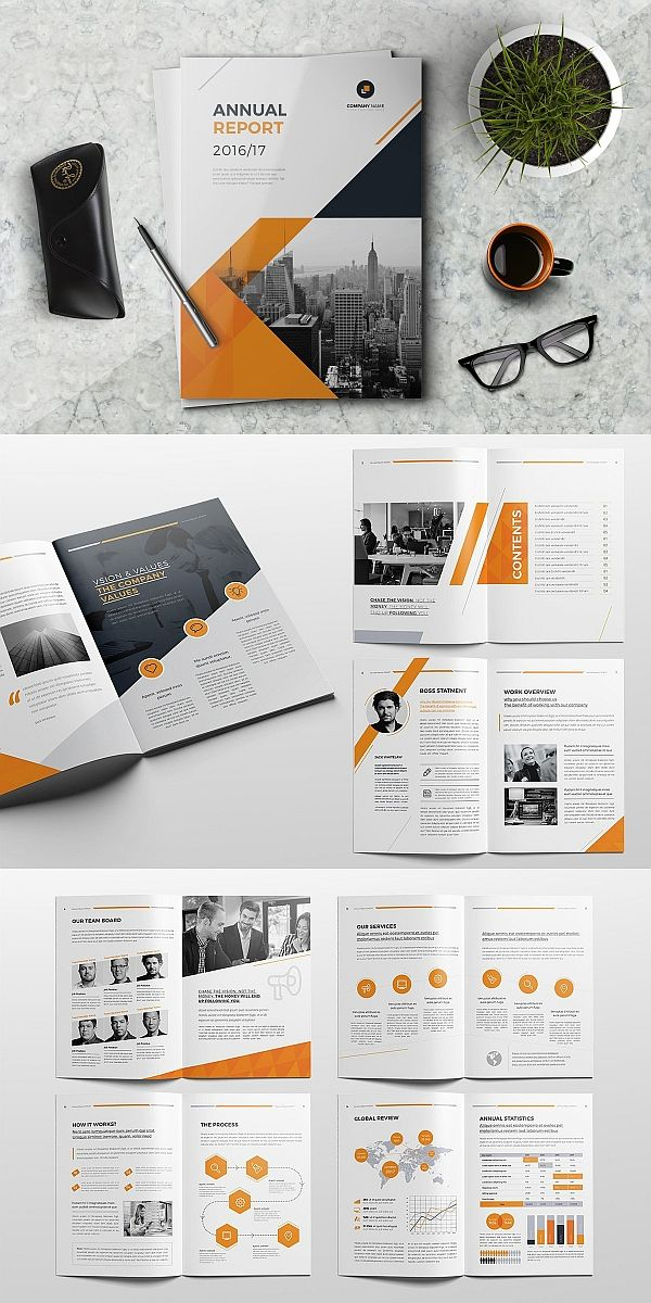 Annual Report 16 Pages With Images Brochure Design Template