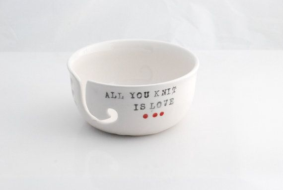 Yarn Bowl Knitting Bowl large ceramic pottery yarn by 2ndstop