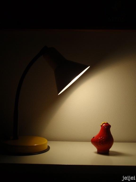 ''kukkopilli'' and yellow table lamp (Nuova Veneta Lumi, Italy)  #FleaMarketFinds #homedecor