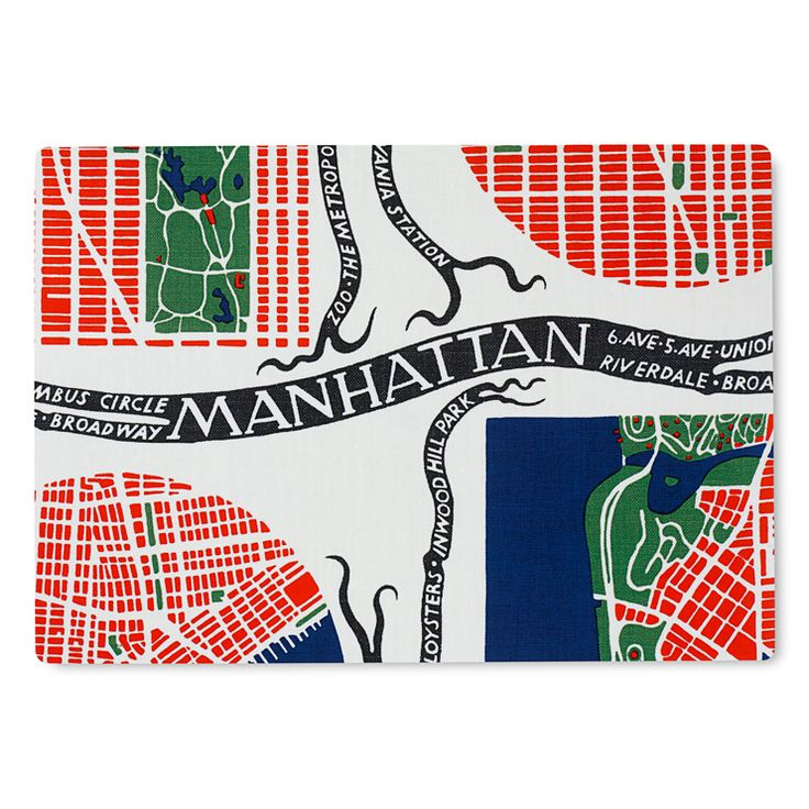 Manhattan Maps, c1940s, Josef Frank, upholstery textile, Sweden
