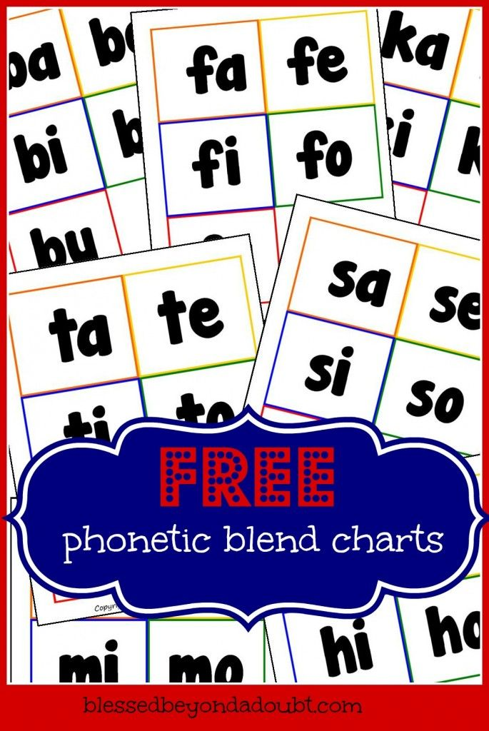 FREE Consonant Blend Charts - Mastering Phonic Sounds! - Blessed Beyond A Doubt