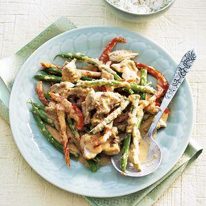 Kijk wat een lekker recept op de test-site van Allerhande! Rode curry met kip en boontjes