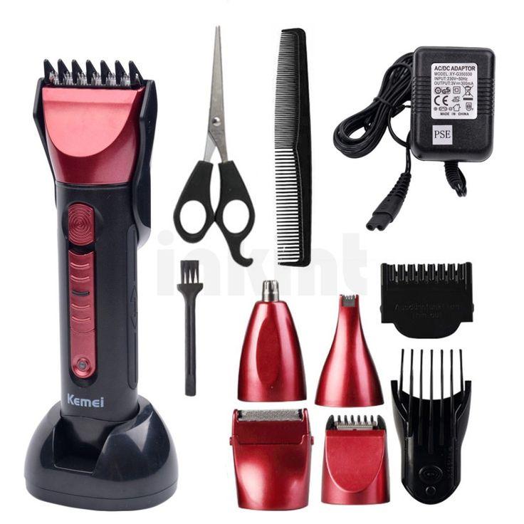 2016 kemei 5 en 1 lectrique tondeuse cheveux professionnel cheveux trimmer pour hommes coupe. Black Bedroom Furniture Sets. Home Design Ideas
