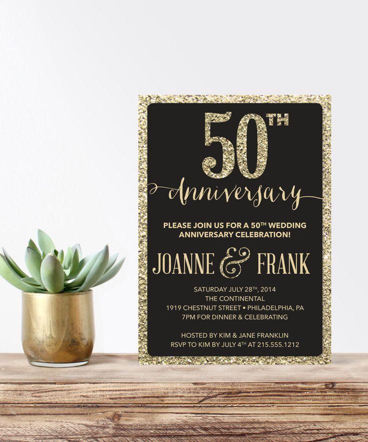 Wedding Anniversary Invite 25th 30th 40th