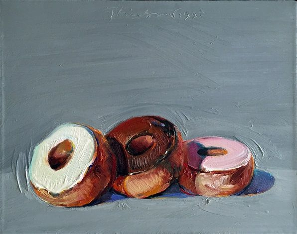 Three Donuts by Wayne Thiebaud 1994