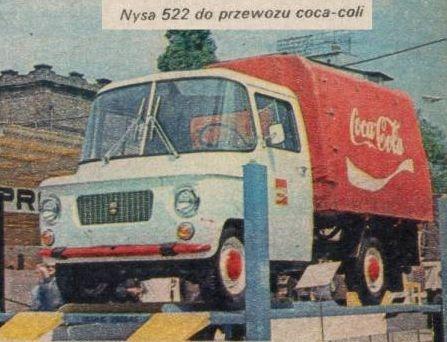 Polish van Nysa 522 (prototype version CocaCola)