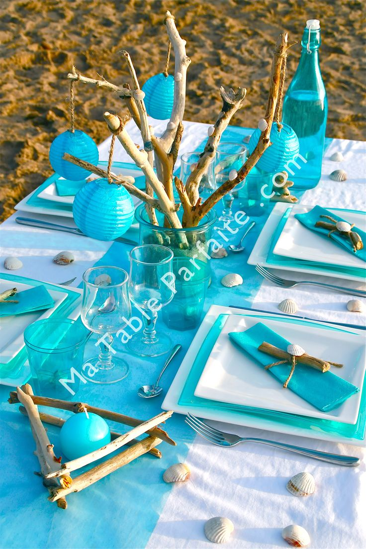 1000 images about deco de table bleu on pinterest deco for Decoration de table bleu turquoise