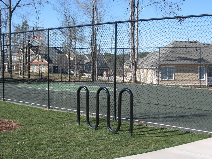 Chain link fences can stop patrons from wondering onto private property. Contact us online today for a free quote www.fenceworksofga.com