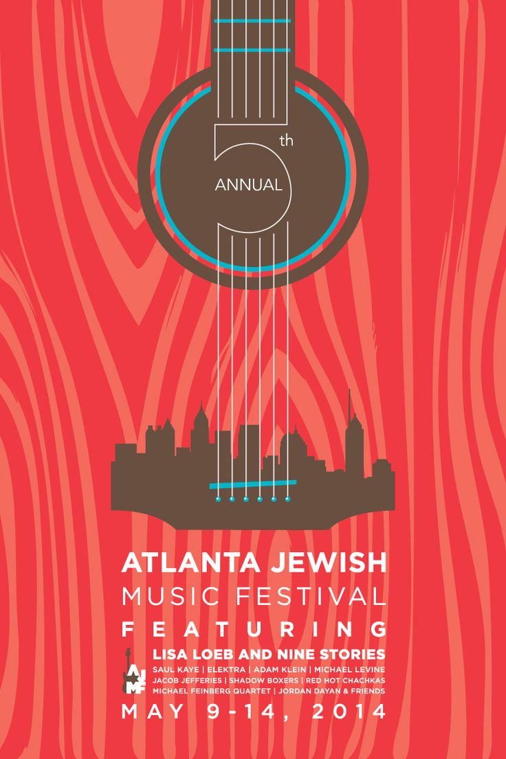 Design poster the best - A Music Festival Poster That Combines Both Guitar And City Skyline Imagery Could Be A