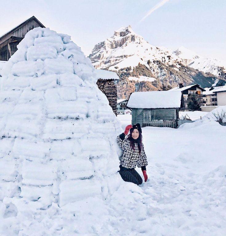 Honey.. Im home!!! . . #lilygoesswitzerland #switzerland #engelberg #iglo #snow