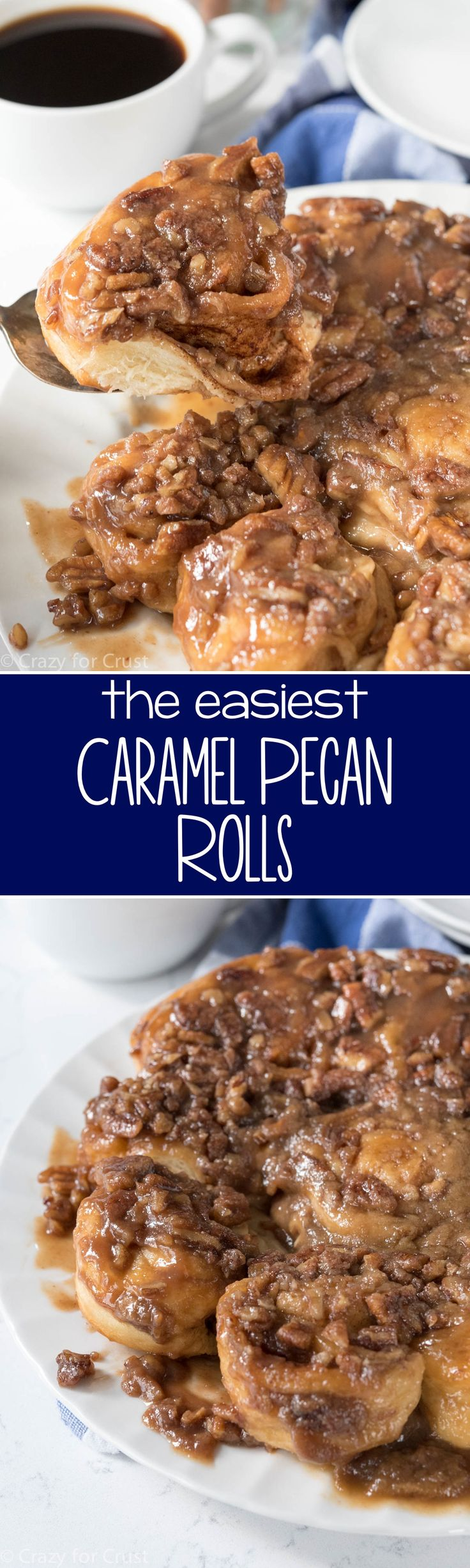 Easy Caramel Pecan Rolls - Crazy for Crust