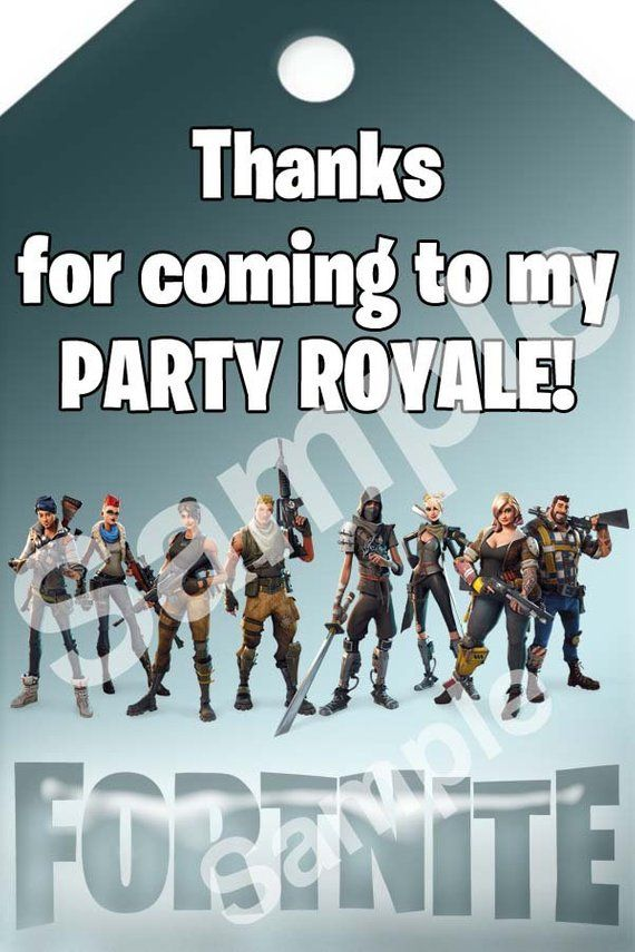 Fortnite Party Favor Tags Printable Fortnite Loot Bag Tags Etsy Birthday Thank You Cards Party Favor Tags Printable Favor Tags