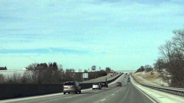 627. США. Городок Dry Ridge. По американским дорогам за рулем автомобиля.