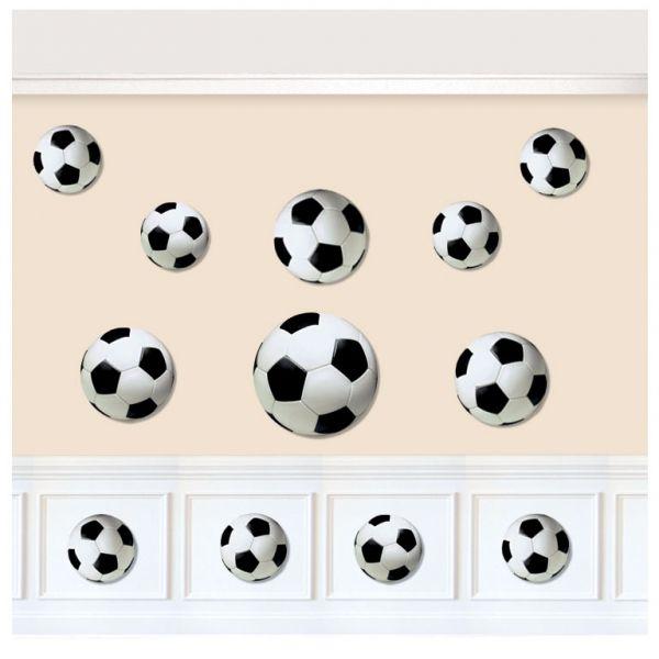 """Dekoracje urodzinowe Piłka Nożna.  Poczujmy jeszcze lepiej atmosferę stadionu wykorzystując """"piłkowe"""" dekoracje."""