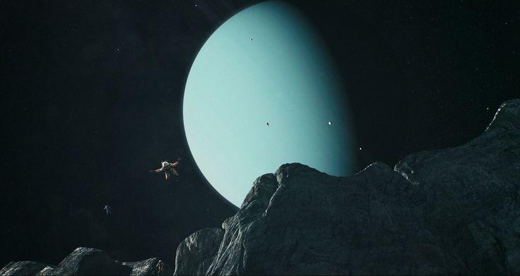 Basejumpen vanaf de hoogste klif in het zonnestelsel, die zich bevindt op Uranus' maan Miranda. Het duurt zeker 12 minuten om op de grond terecht te komen.