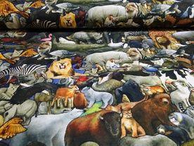 Digitale tricot stof met dierenprint - bbms.nl