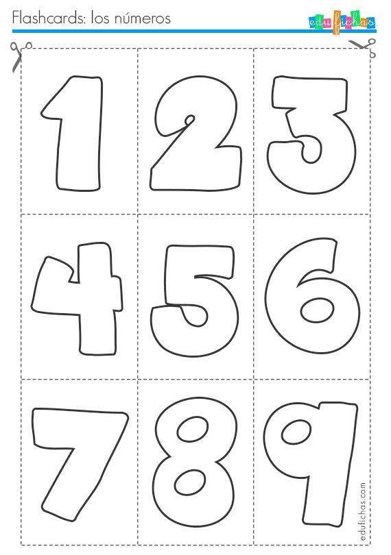 Flashcards para aprender los números, hoja 1  http://www.edufichas.com/tarjetas/flashcards/flashcards-para-aprender-los-numeros/  #flashcards #numbers