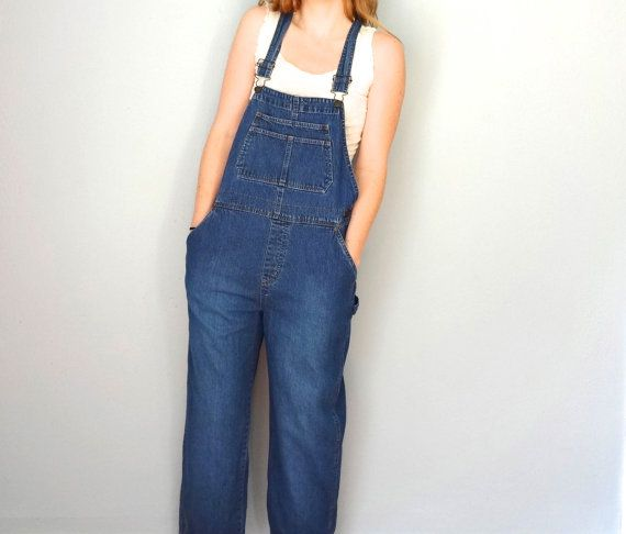 Vintage OVERALLS Pair / 1990s Clothing / Blue by BluegrassBooty, $54.00