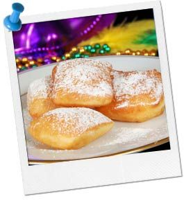 Easy Beignet Recipe   Mardi Gras Food Recipe at Birthday in a Box... use for Tiana Princess Party too!