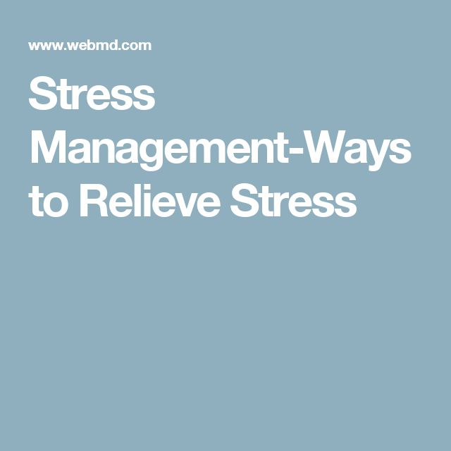 stress management ways reduce stress Researchers believe that experiencing stress can affect the way a person's  can  be a very effective way to reduce stress and improve your overall mood.