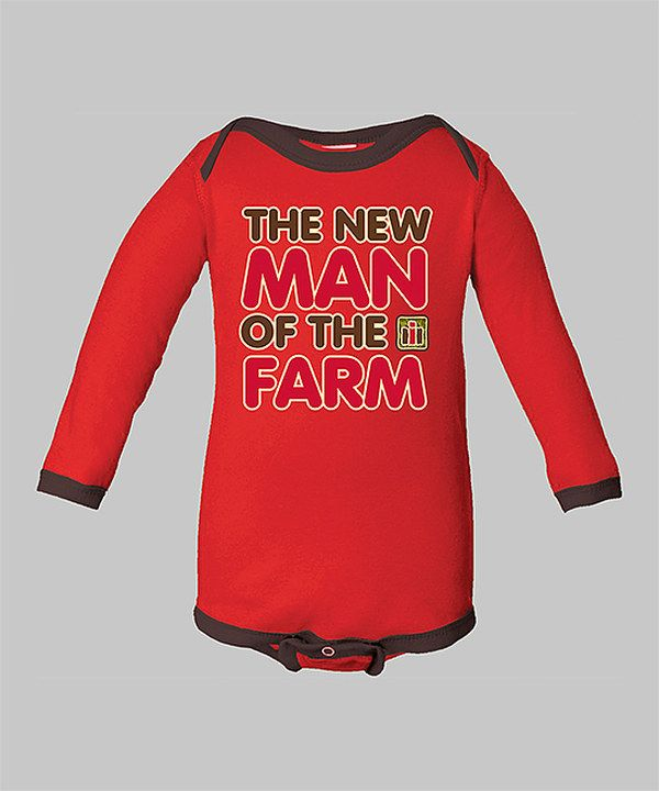 Take a look at this International Harvester Red 'New Man of the Farm' Bodysuit - Infant on zulily today!