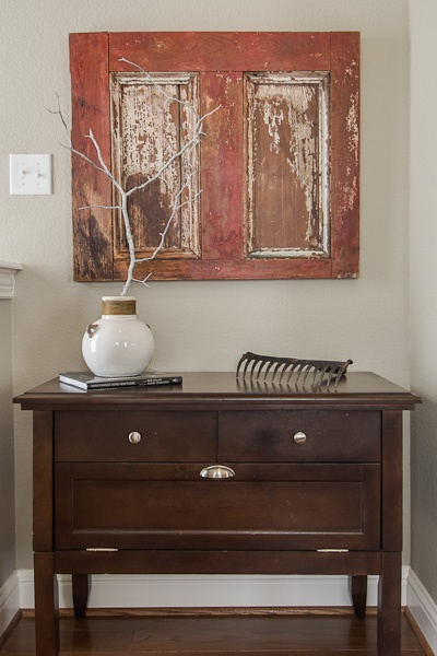 Artwork Instead Of Tv, Staging To Sell Idea For TV Nook, Mixing Old And