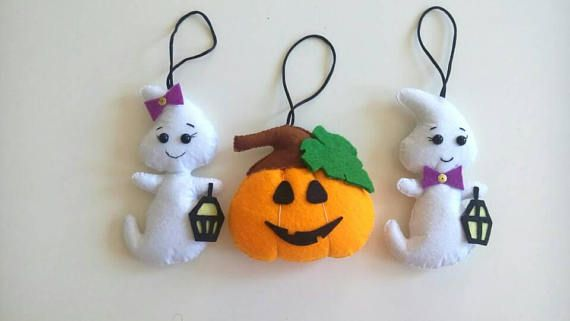 Set of 10 Halloween ornaments. Halloween decor garland.Party