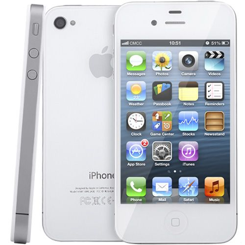 [$112.00] Refurbished Original Unlock Apple iPhone 4 Model A1332 16GB (Standard Package)(White)