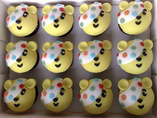 """Children In Need""....Pudsey Cupcakes 