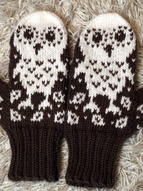 Owl mittens - inspiration