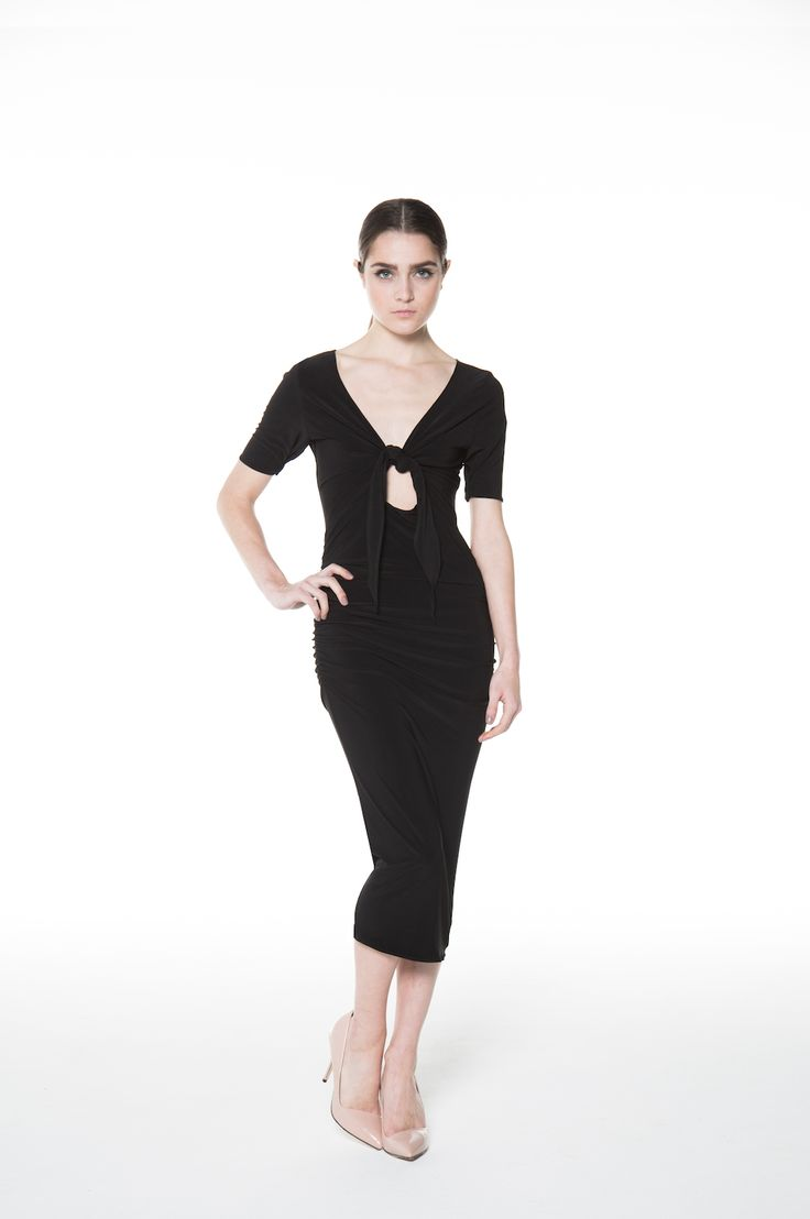 The Front-Tie Dress - Comfort meets Ultra Sexy! Made in Canada